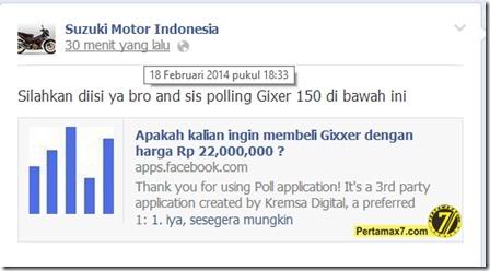 polling suzuki gixxer indonesia