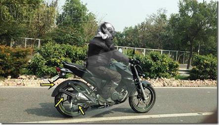 Spied new Yamaha FZ Update 2