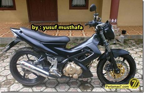 Suzuki Satria FU pakai velg Yamaha Byson 1
