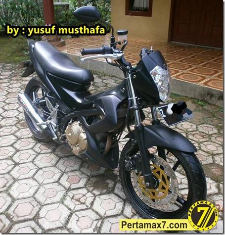 Suzuki Satria FU pakai velg Yamaha Byson 2