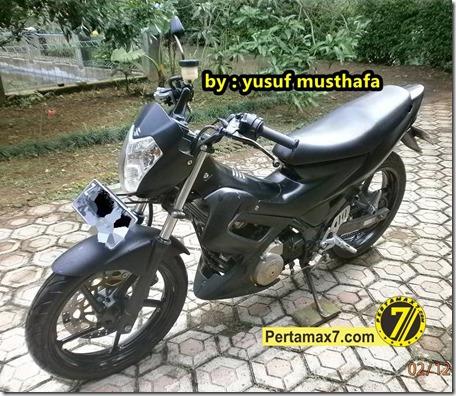 Suzuki Satria FU pakai velg Yamaha Byson 3