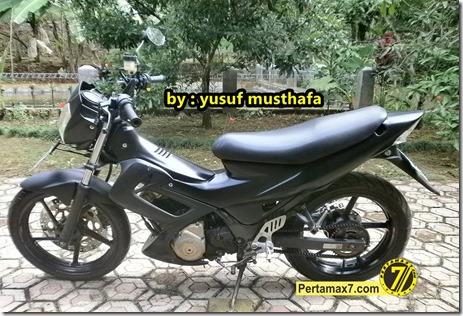Suzuki Satria FU pakai velg Yamaha Byson 4