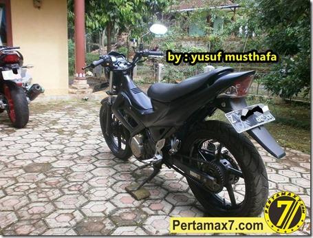 Suzuki Satria FU pakai velg Yamaha Byson 5
