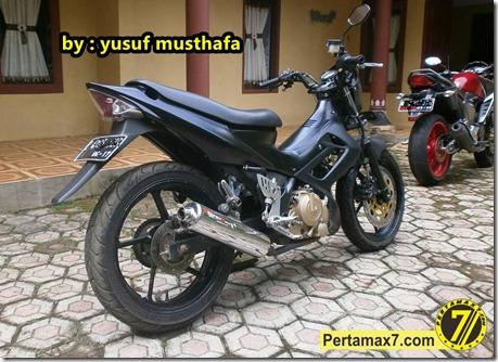Suzuki Satria FU pakai velg Yamaha Byson 6