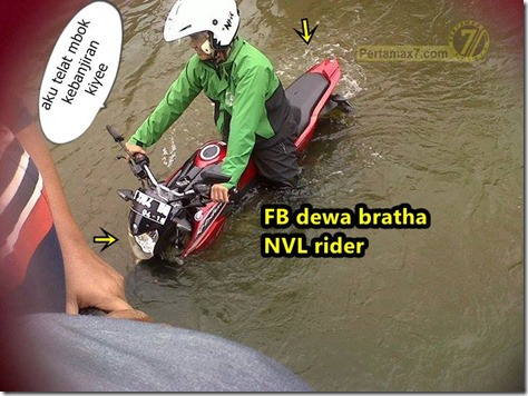 Yamaha New V-ixion Lightning terjang banjir