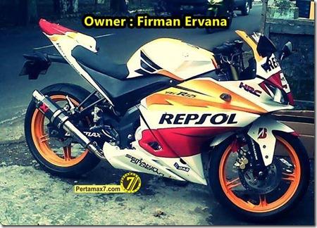 Yamaha New Vixion Modip YZF-R125 livery honda repsol Marquez 93 a