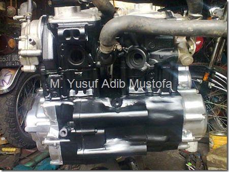 Honda CB modip 320 cc pakai head cylinder Yamaha Vixion 3