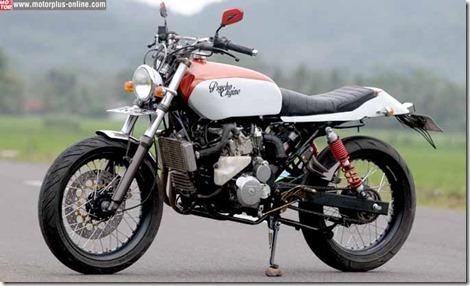 Honda CB modip 320 cc pakai head cylinder Yamaha Vixion 6