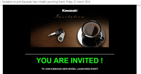 invitation launching kawasaki estrella indonesia