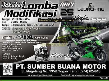 launching Ninja 250 RR MONO dan Ninja 1000 Yogyakarta DIY 2