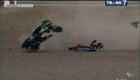 lorenzo crash qatar 2014