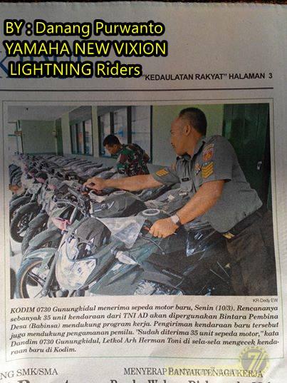 Yamaha New V-ixion menjadi kendaraan Dinas TNI  2