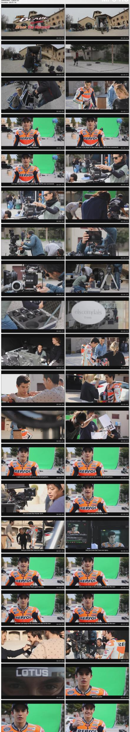Behind The Scene TVC Honda Blade 125 FI with Marc Marquez by pertamax7.com