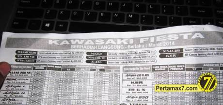 harga Kawasaki bajaj Pulsar 200ns Yogyarta berhadiah langsung tablet android atau cashback 1,5 juta