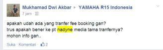 Indent Online Yamaha R15 PT . Nadyne Media Tama Pertamax72