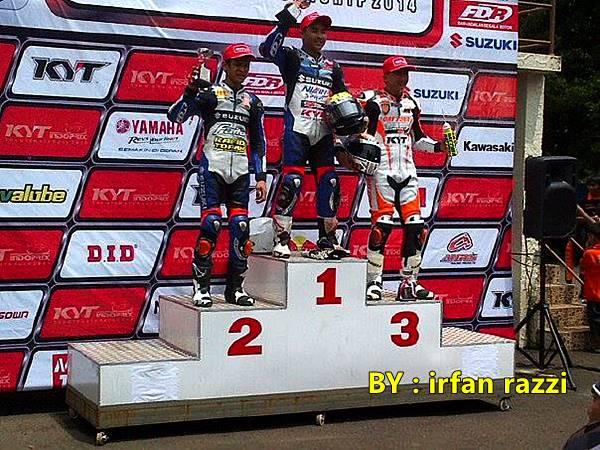 Indoprix Sport 150 CC Sentul Karting satria juara 1 2, New Vixion juara 3 2