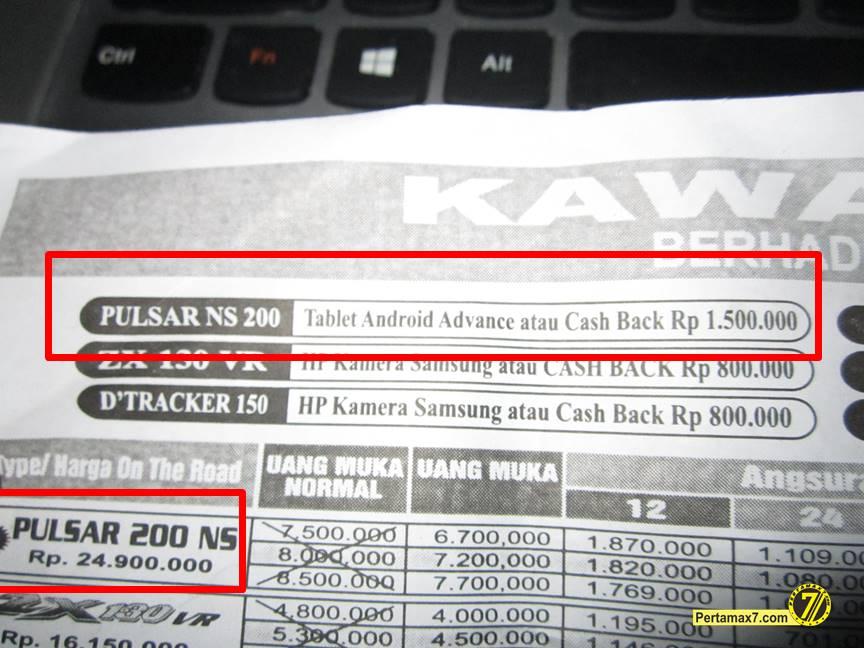 Kawasaki bajaj Pulsar 200ns Yogyarta berhadiah langsung tablet android atau cashback 1,5 juta a