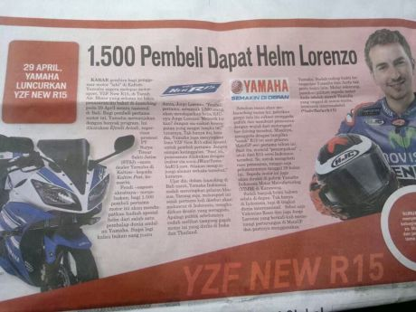 launching yamaha R15 Indonesia