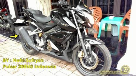 P200NS dengan knalpot kawasaki Ninja 250 FI