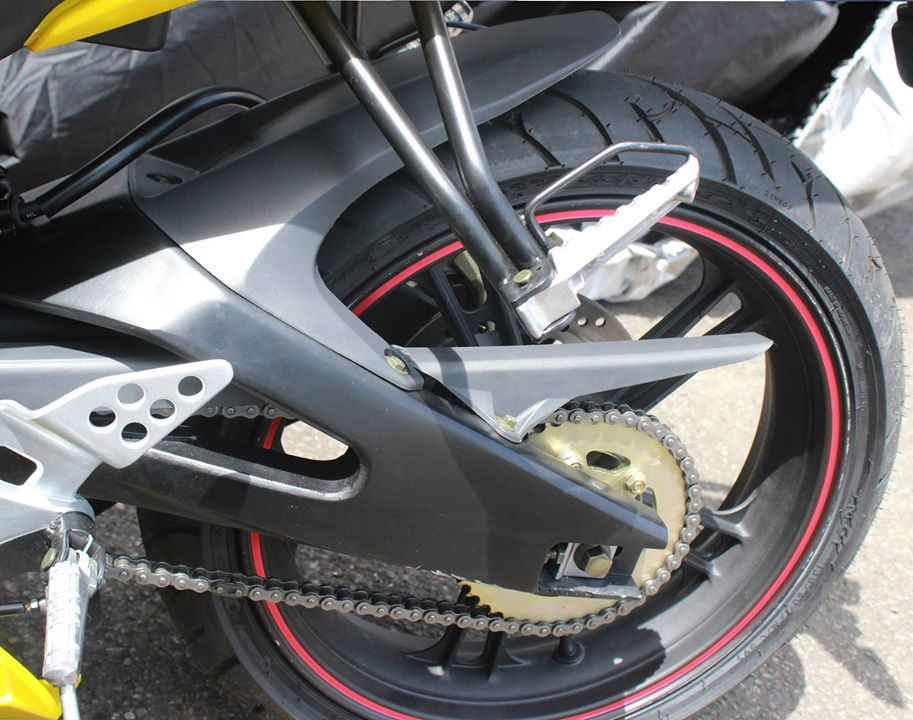 swing arm minerva RX 150 kuning