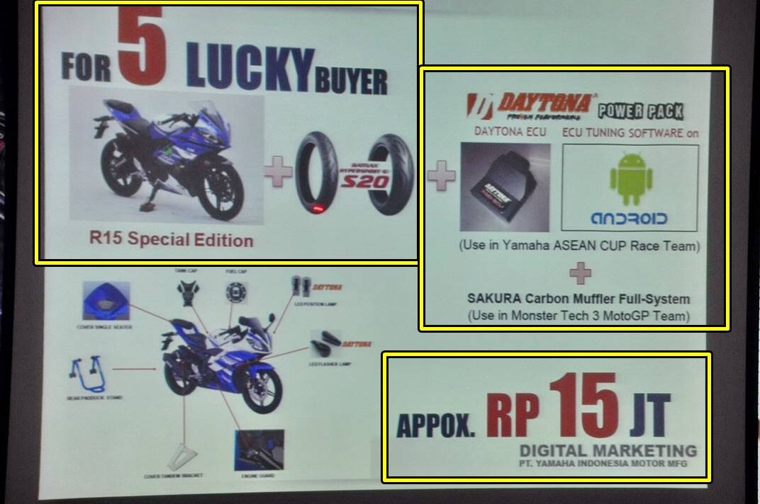 yamaha new R15 part racing