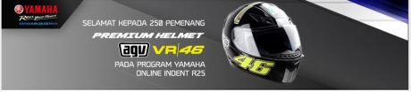 250 pemenang helm AGV VR 46 Yamaha YZF-R25 Indent Online