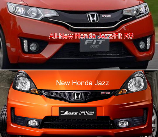 all new Honda Jazz 2014 vs new  honda Jazz