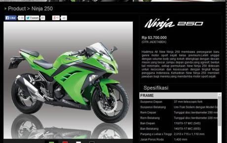 harga Yamaha YZf-R25 ( estimasi diantara 2 motor sport fairing 250 cc