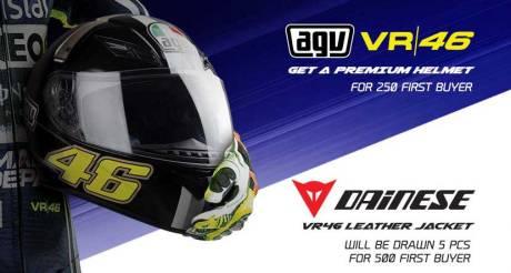 helm AGV Valentino rossi hadian Indent Online Yamaha YZF-R25 untuk 250 pembeli pertama