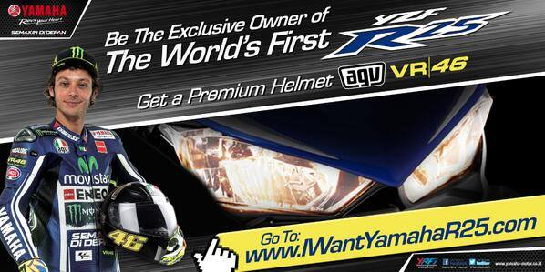 helm AGV Valentino rossi hadian Indent Online Yamaha YZF-R25