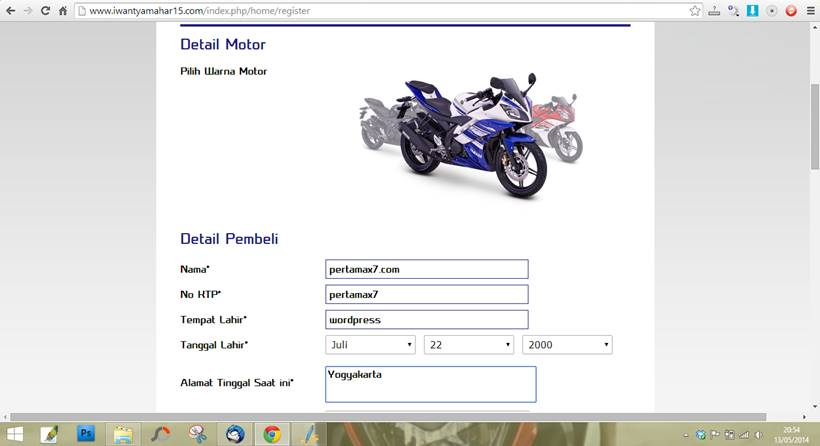 indent online yamaha YZF-R15
