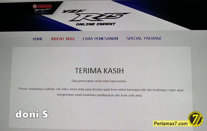 indent online yamaha YZF-R25 Indonesia