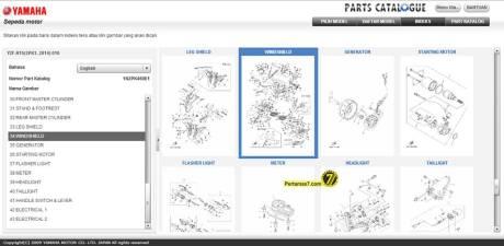 part catalogue yamaha YZF-R15 Indonesia