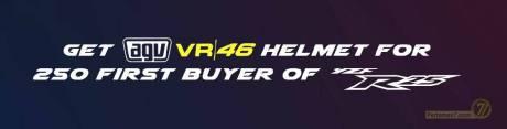 Pembeli yamaha r25 berhadiah 250 helm valentino Rossi 46