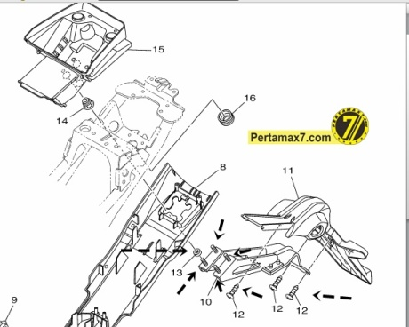 solusi spakbor belakang yamaha YZF-R15