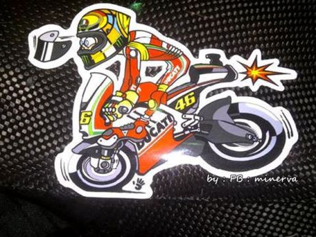 valentino rossi stickers on ducati