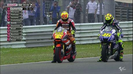aleix espargaro vs rossi QTT motogp assen 2014