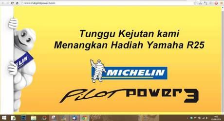 beli Indent Ban Michelin Pilot Power3 Berhadiah Yamaha YZF-R25