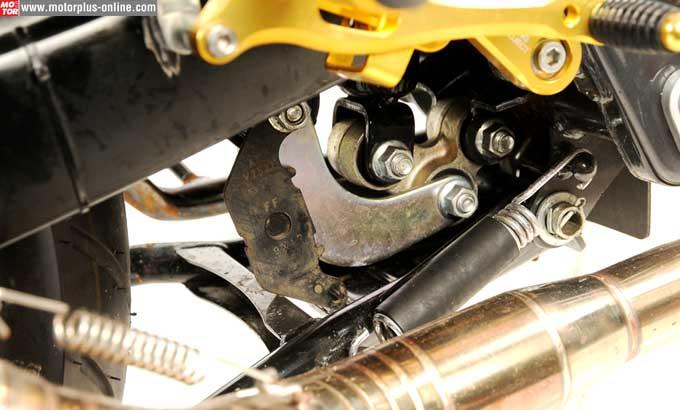 brake pad untuk peyangga standart tengah yamaha vixion