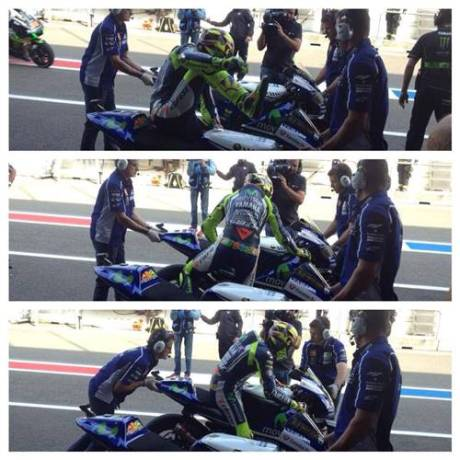 flag to flag race Rossi