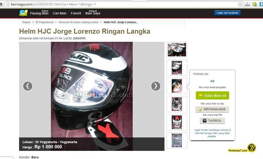 helm HJC lorenzo 99 hadiah yamaha R15 dijual Rp. 1 juta