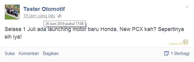Honda PCX 150 ke Indonesia Juli 2014