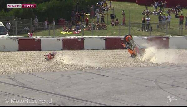 marc marquez Crash at Catalunia 2014 2
