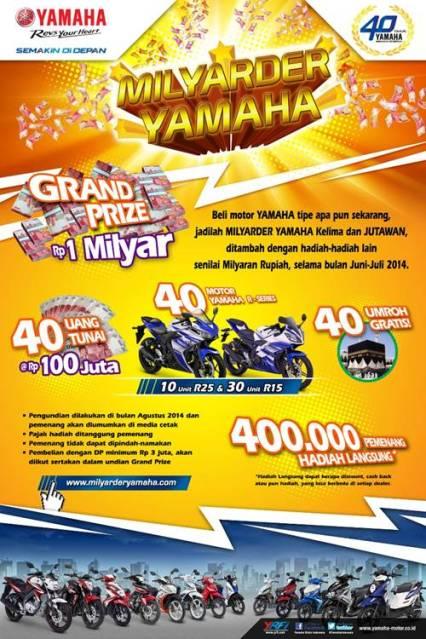 Milyarder Yamaha Hadiah Spesial 40 Tahun Yamaha
