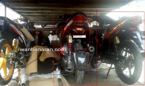 motor misterius dari AHM menuju Jakarta fair 2014