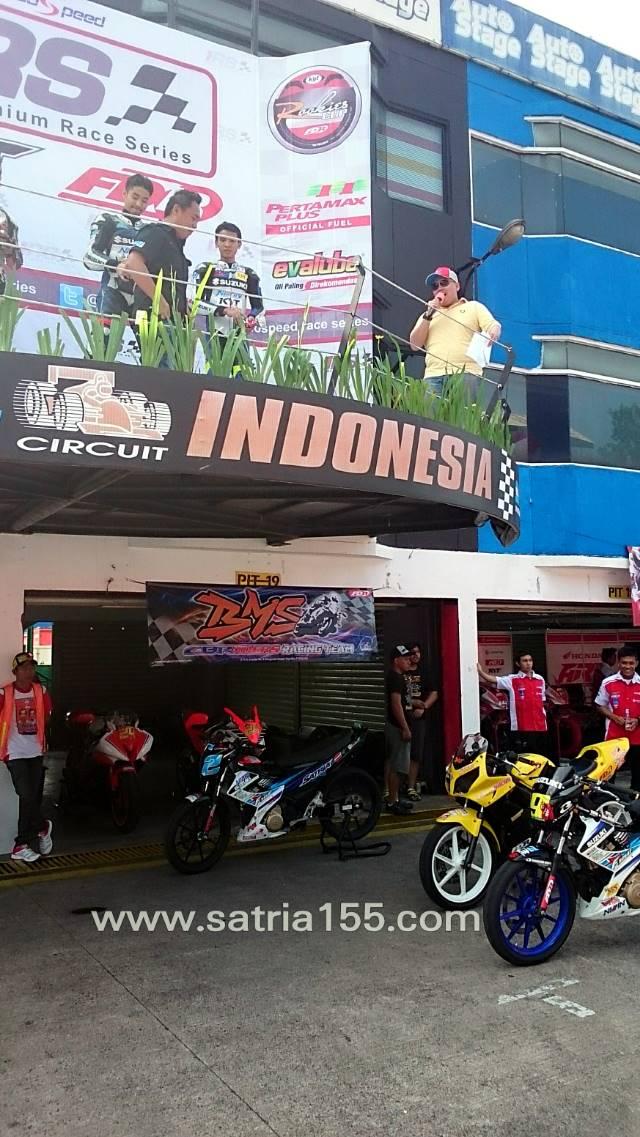 podium race kejurnas indospeed race series 2014 putaran 2 sport 150 cc