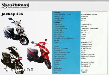 spesifikasi kymco jockey 125
