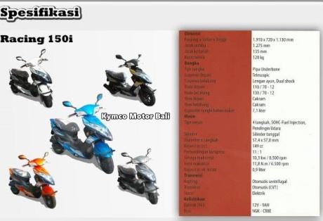 spesifikasi kymco racing 150i