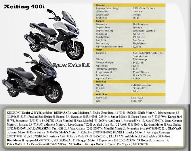 spesifikasi kymco xciting 400