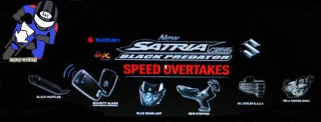 Suzuki Satria F 150 BLACK PREDATOR